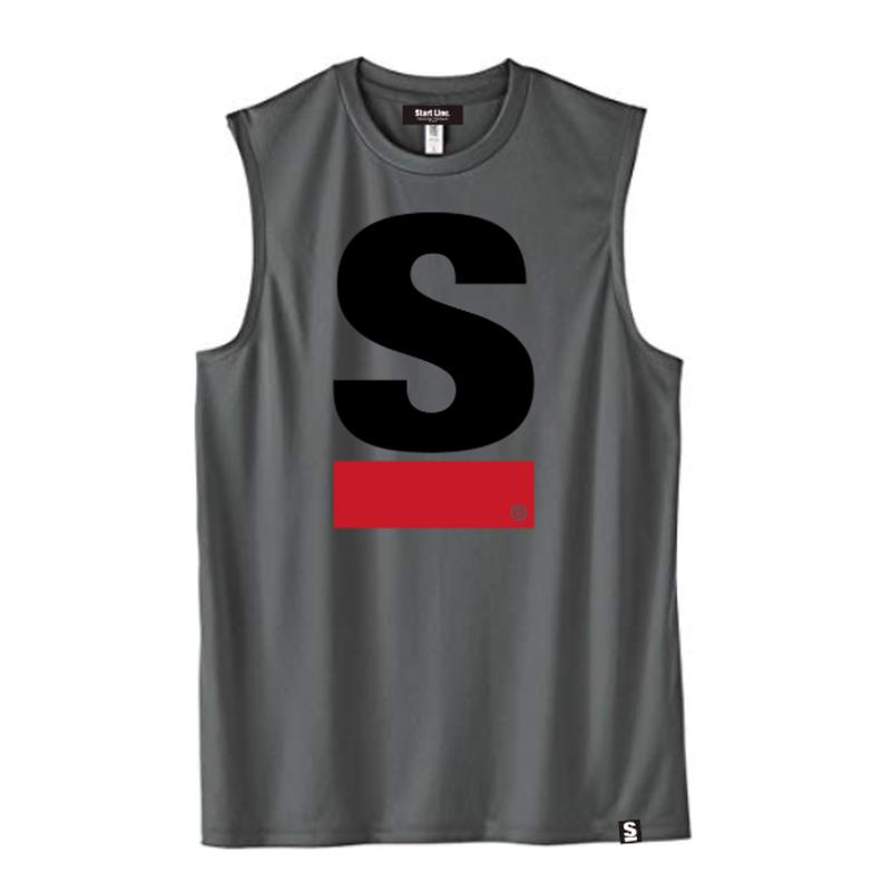 【S残り1点】Big S Active No-sleeve/ビッグエスノースリ(Gray/グレー)