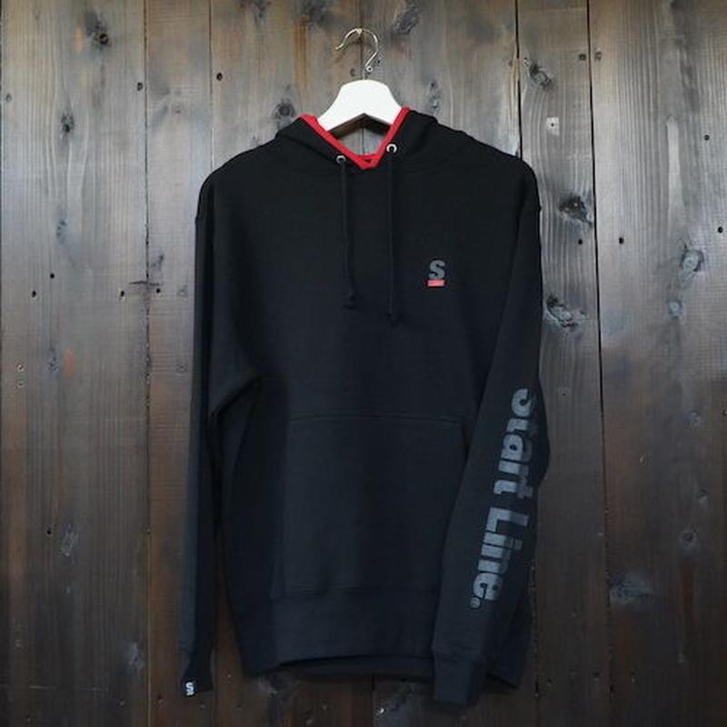 【完売】2tone Hooded Parka /ツートンフーテッドパーカー(Black/ブラック)