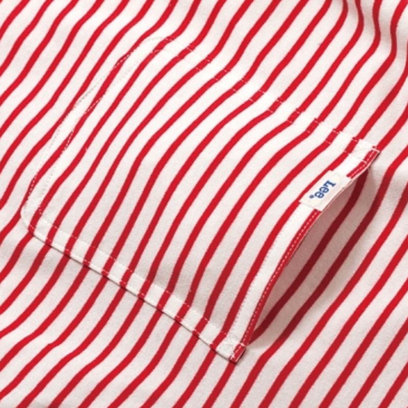 【XS残り1点】Lee with SL Pocket Border T-shirt/リーウィズポケットボーダーTシャツ(Red/レッド)  ウィメンズ