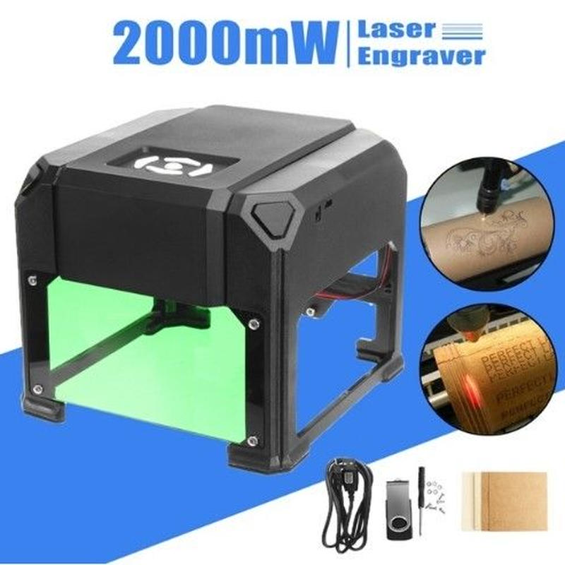 自作DIY 高精度 ミニレーザー彫刻機 AC100-240V 2000mW