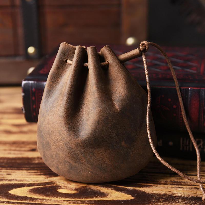 小物入れ ポーチ 牛革製 コスプレアイテム ファンタジー 世紀末