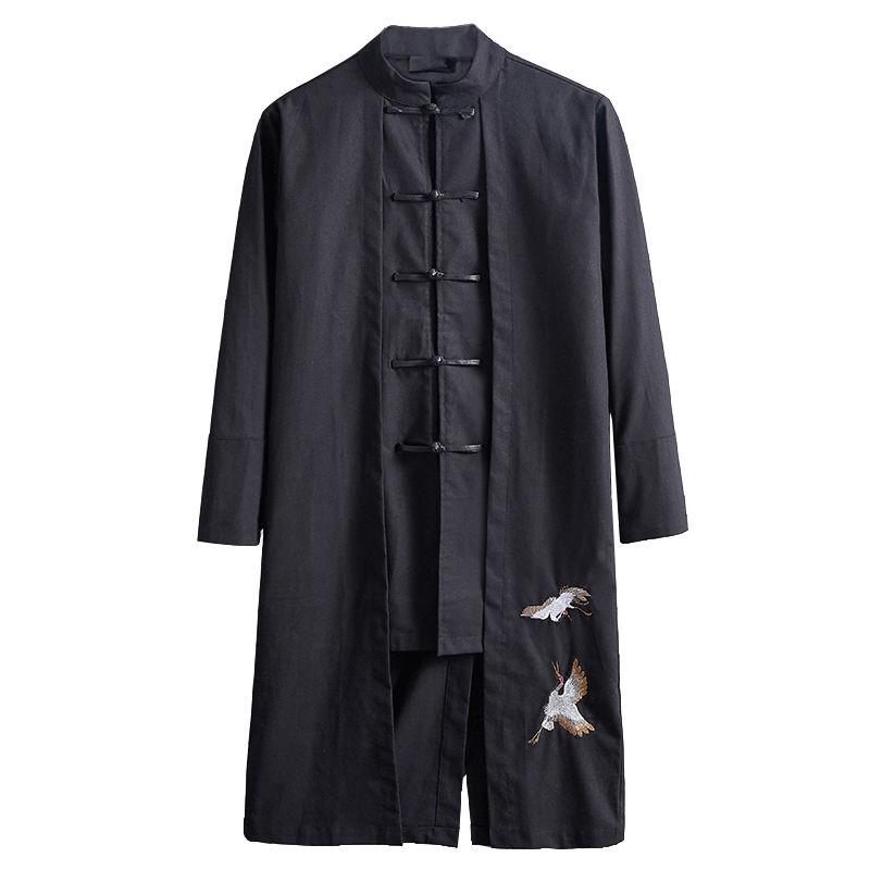 【雲中鶴】現代風アレンジ チャイナ服 刺繍