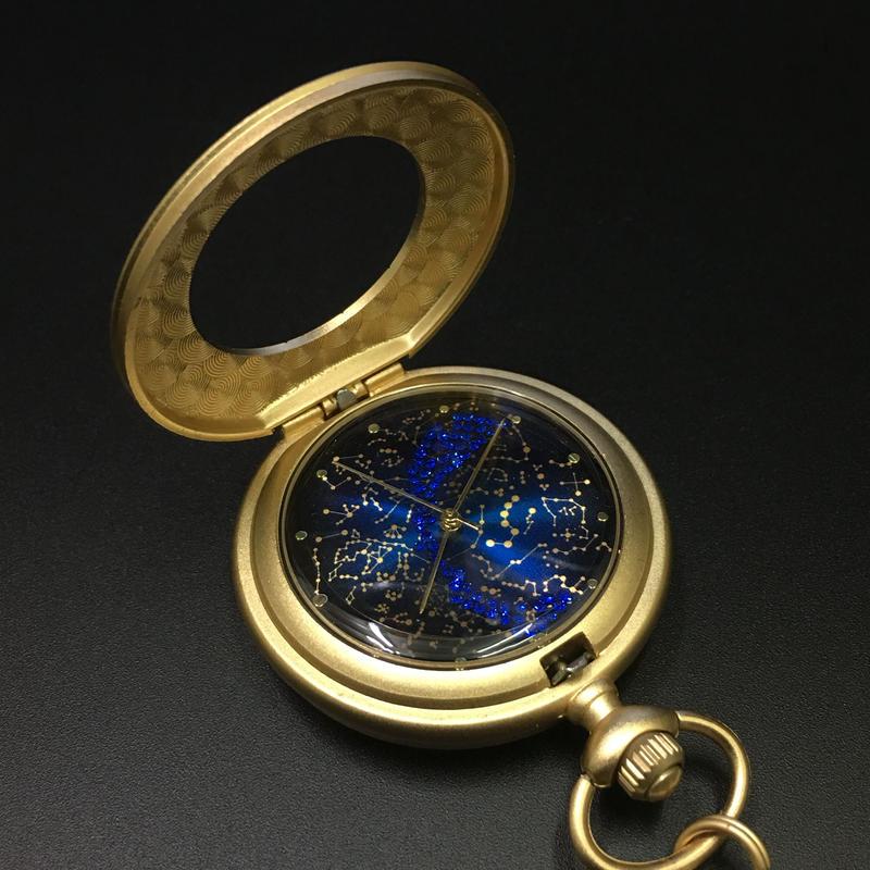 【天干・地支ー北極恒星図】懐中時計