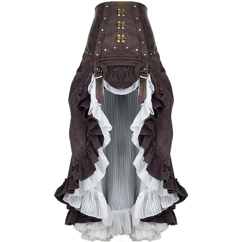 【期間限定割引】スチームパンク ビクトリア風ロングスカート