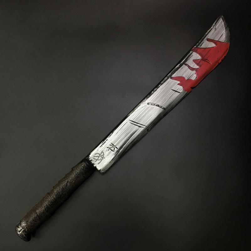 【74cm】血痕のロングマチェット プラスチック製品
