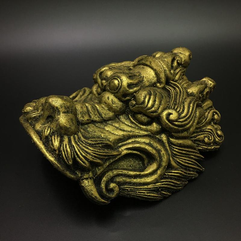 龍型肩鎧の飾り 中華風 グライスファイバー製レプリカ ソフト