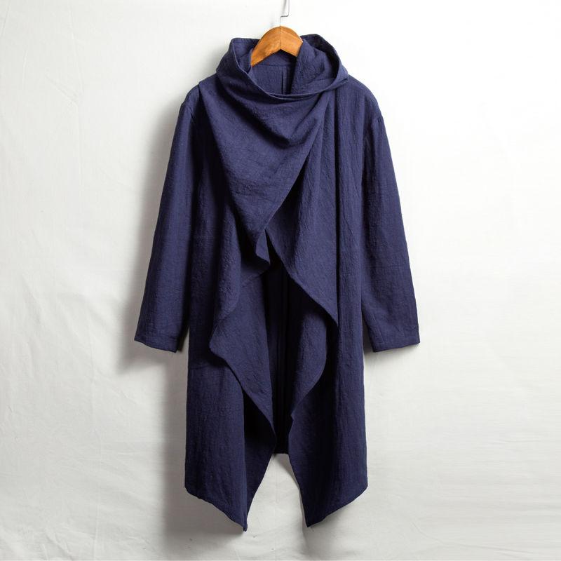 【ネイビー】冒険者のポンチョ(袖付き)