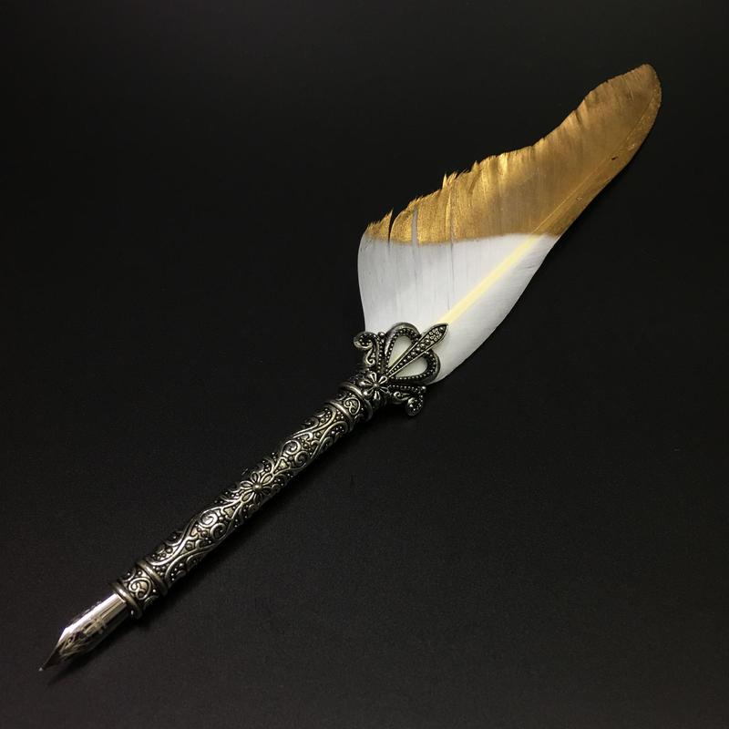 万年筆 フェザーペン 羽毛ペン 羽根 羽飾り