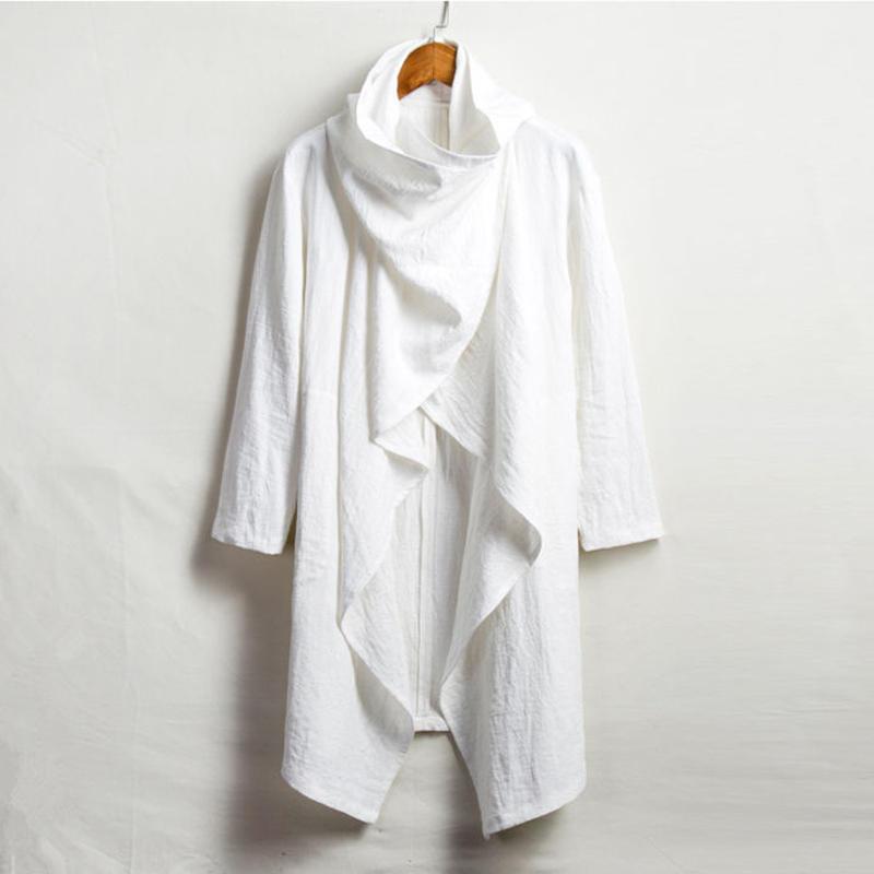 【ホワイト】冒険者のポンチョ(袖付き)