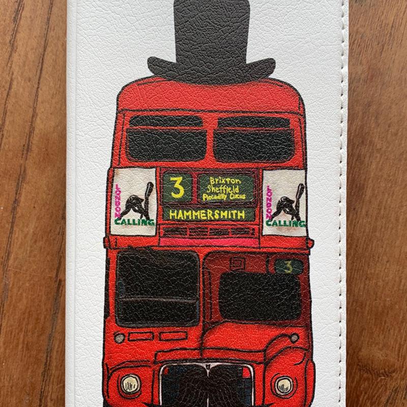 【iPhone】ロンドンバス 帯なし手帳型スマホケース