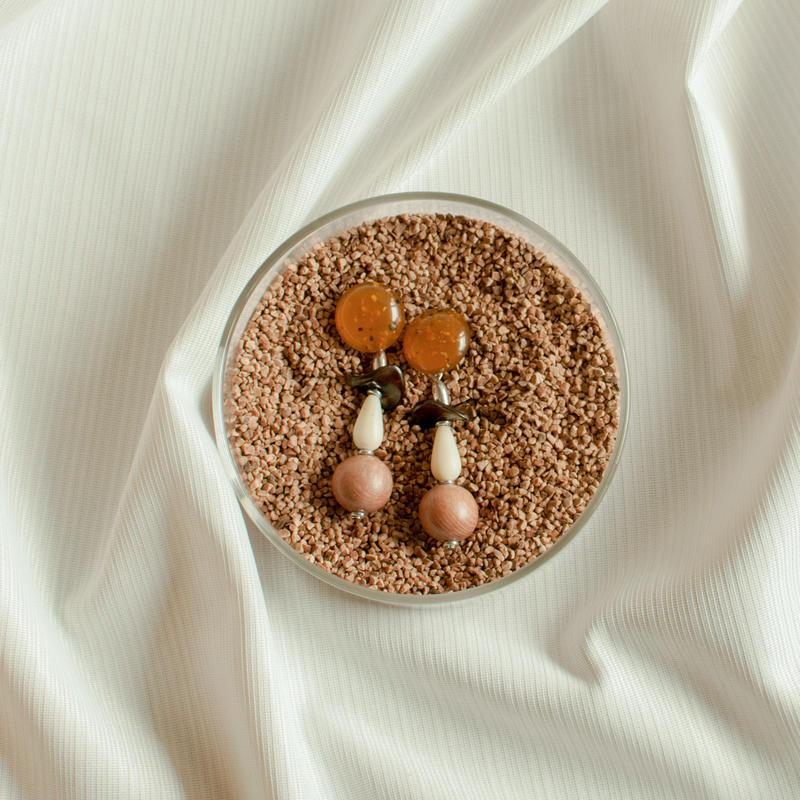 Beeswax earring