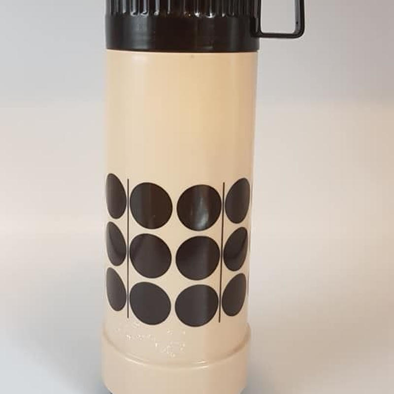 1970's 西ドイツ Dr.Zimmerman ベージュ×ブラウン 水筒・魔法瓶