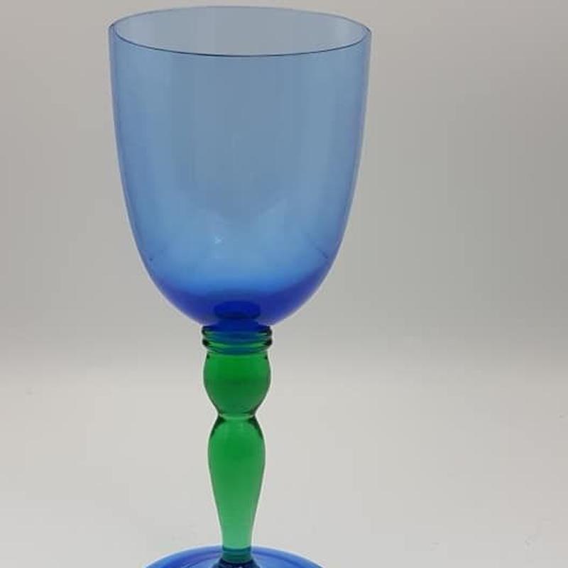 イタリア製 ツートーンカラーワイングラス/GR021