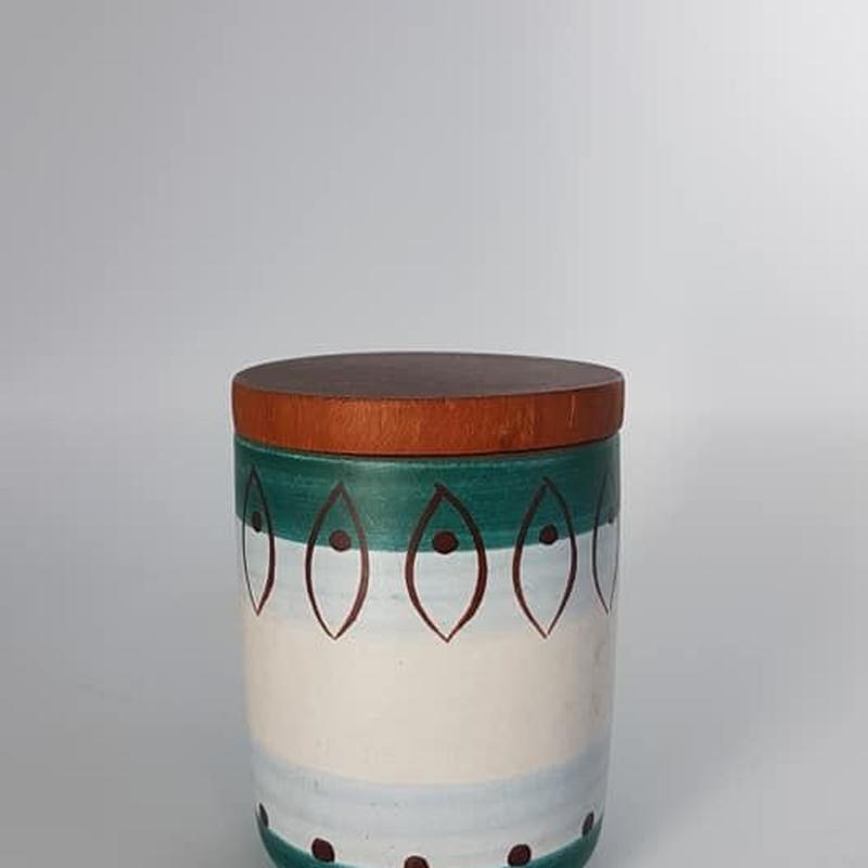 1950's ~60's デンマーク製?ドイツ製?チークウッド×陶器のスパイス入れ/DK048