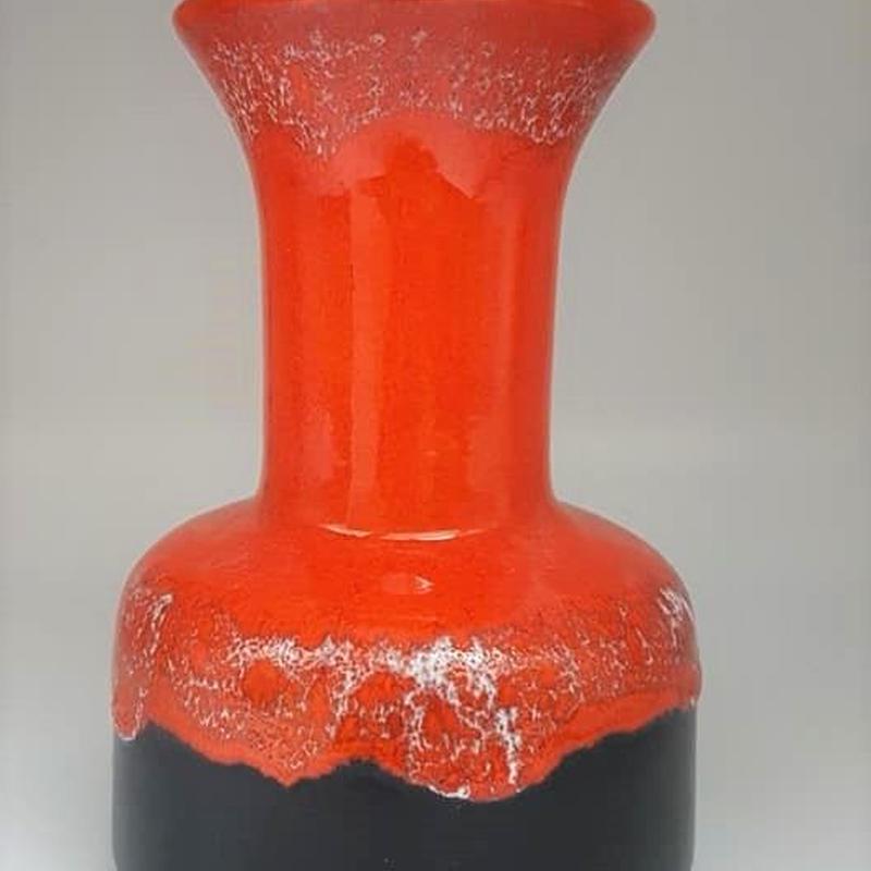 1960's~70's Jasba製 オレンジ×ダークブラウン fat lavaベース B     WK036