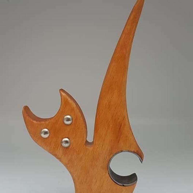 1960's デンマーク製? 木製の猫型栓抜き ボトルオープナー/HG011