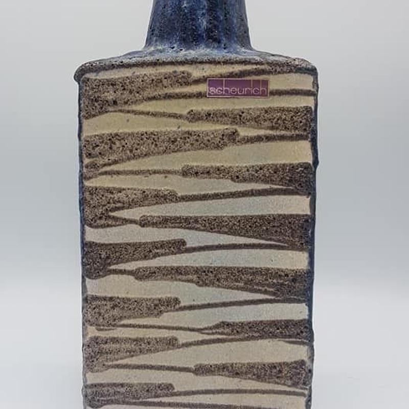 1970's Scheurich ブルー×ホワイト×ブラック fat lava ベース/WK060