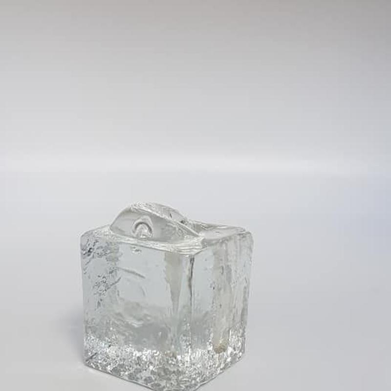 1960's~70's 西ドイツ Ingrid製 OPアート ガラス製の一輪挿し J(cube)/GR042