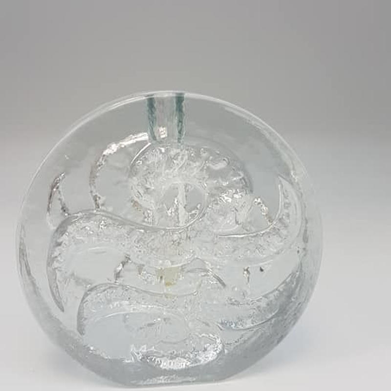 1960's~70's Waltherglass社製 OPアート ガラス製の一輪挿し B /GR008