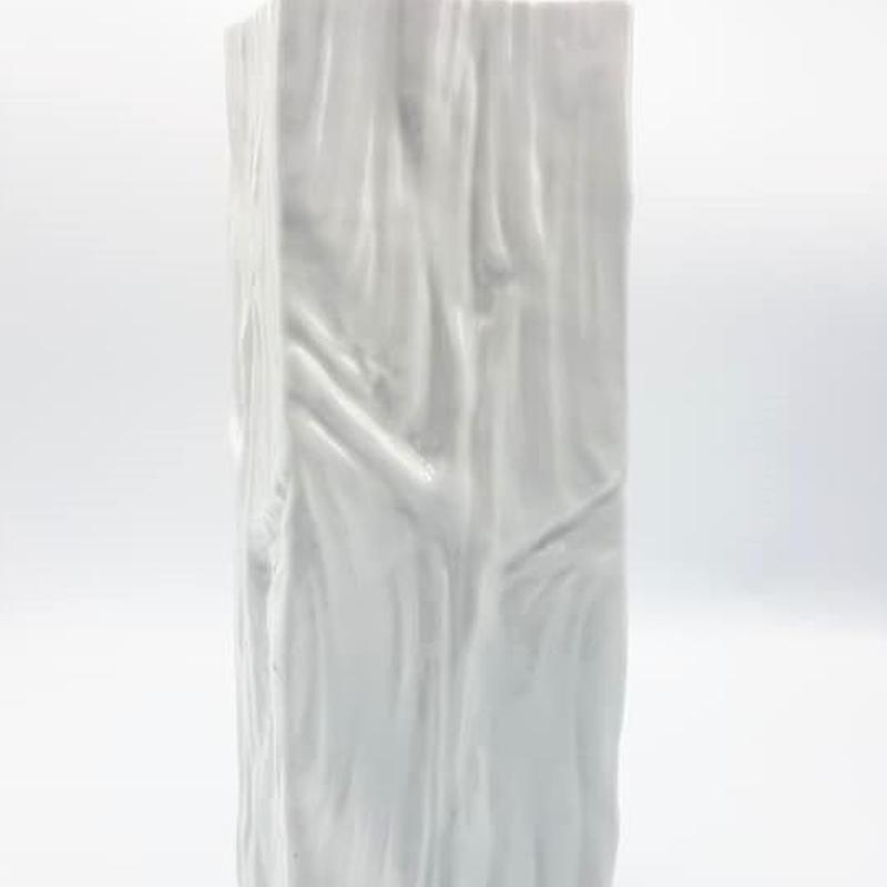 1960's~70's Gerold Porzellan製 OPアート ホワイトデザインベース /WK050