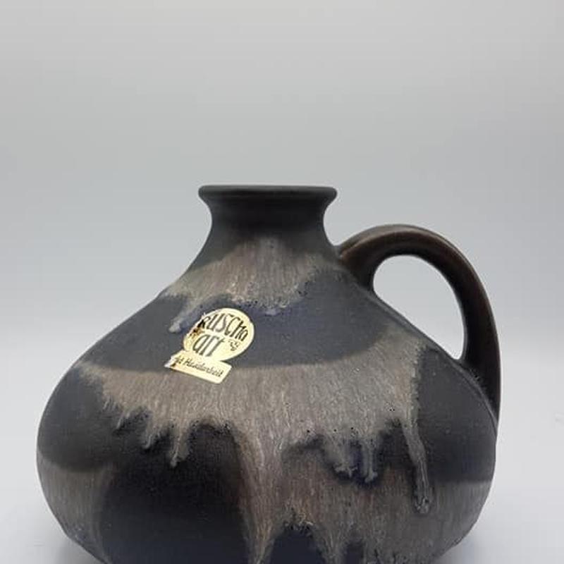 1960's~70's Ruscha製 ブラック×グレー fat lavaベース/WK057