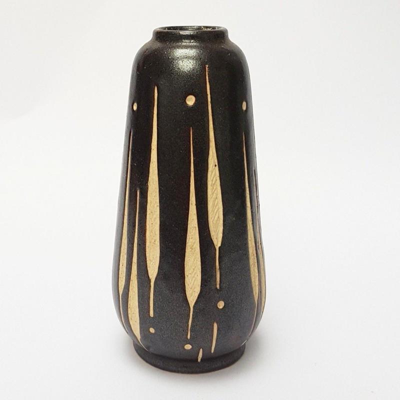 1960's PIESCHE & REIF  東ドイツ Studio Ceramic ズグラッフィートべース  DK006