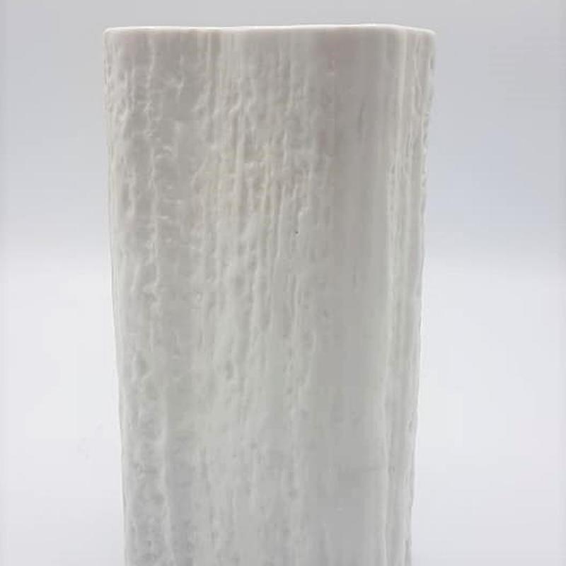 1970's Rosenthal スタジオライン Op-art ホワイト ビスクベース Martin Freyerデザイン/WK054