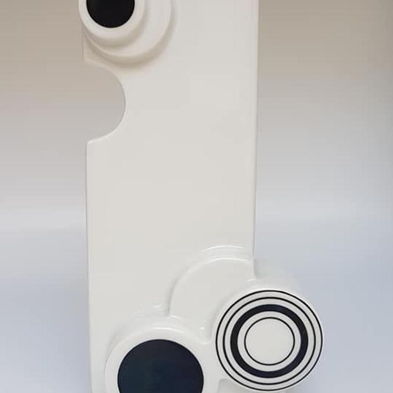 1970's Gerold Porzellan製 OPアート モノトーンデザインベース  /WK048