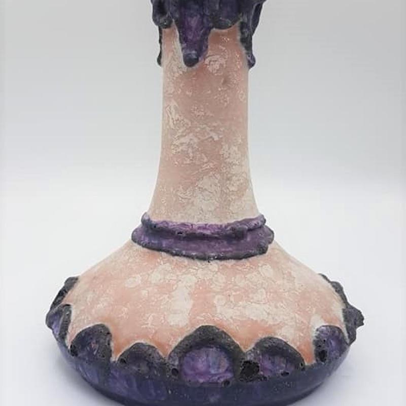 1970's Marei keramik社製 パープル fat lava ベースBruggeシリーズ
