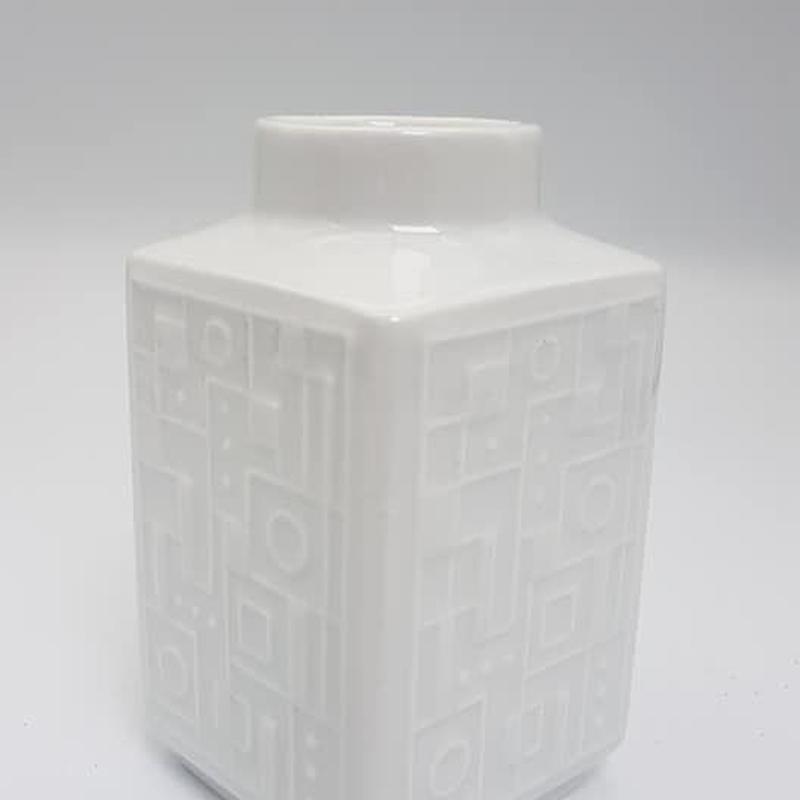 1960's Wunsiedel Bavaria社製 Op art 幾何学レリーフモチーフ ホワイトベース/WK052