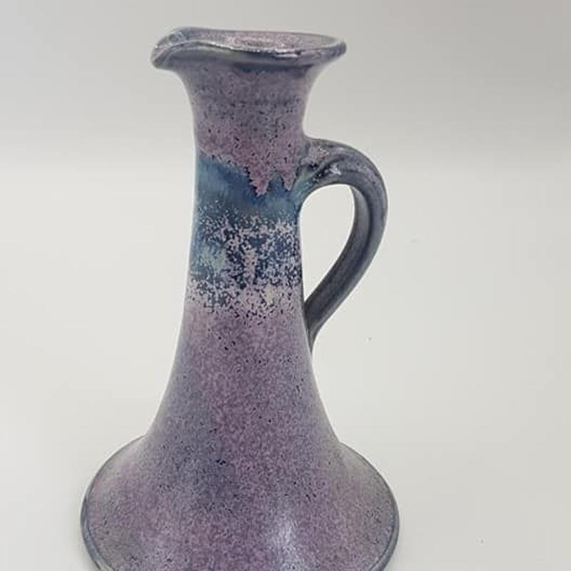Studio keramik 作家もののパープル一輪挿し DK026-2