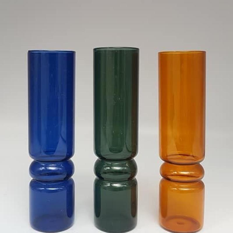 年代など不明 カイフランク風3色セットのグラスベース /GR016