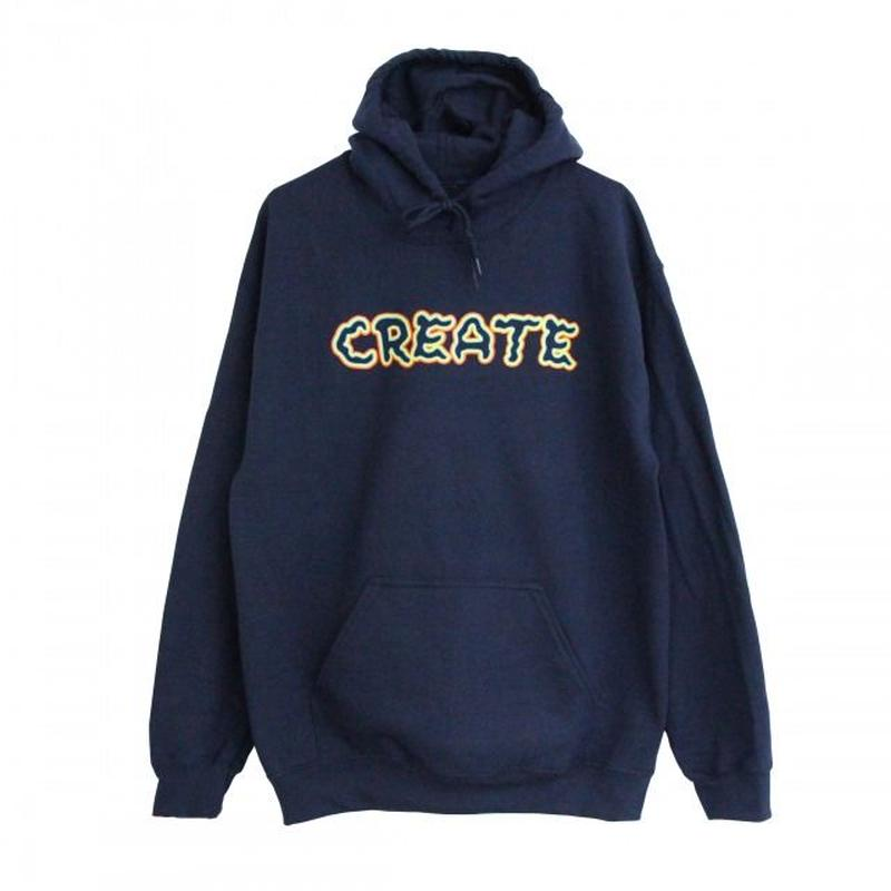 Create Skateboards  Wobble Hoodie (Navy) クリエイト スケートボード