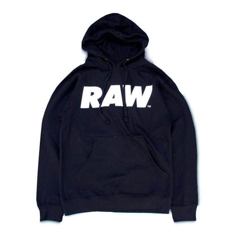 RAW Logo Pullover Hoodie (Black) ロウ ロゴ プルオーバー フーディー (ブラック)