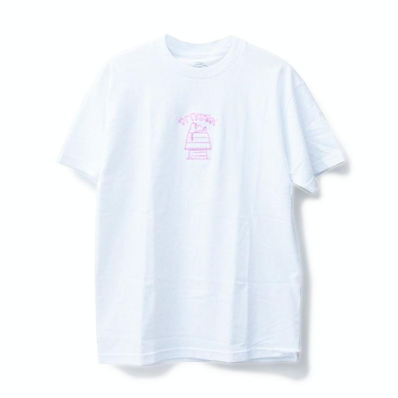 PITY SEX DROOPCITY SS TEE WHITE x PINK