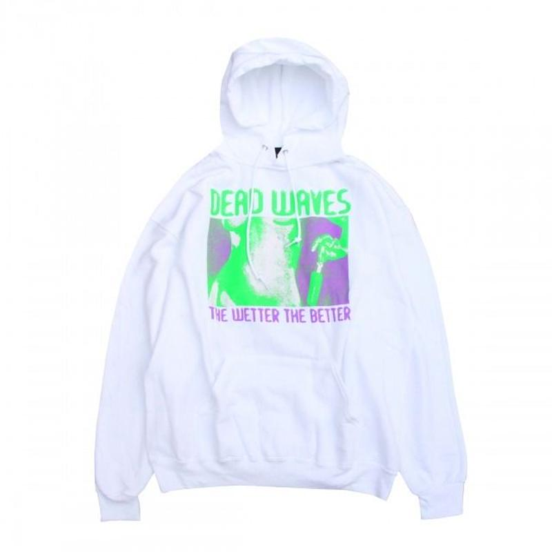 SURF IS DEAD BETTER WET HOODIE<White>サーフイズデッド
