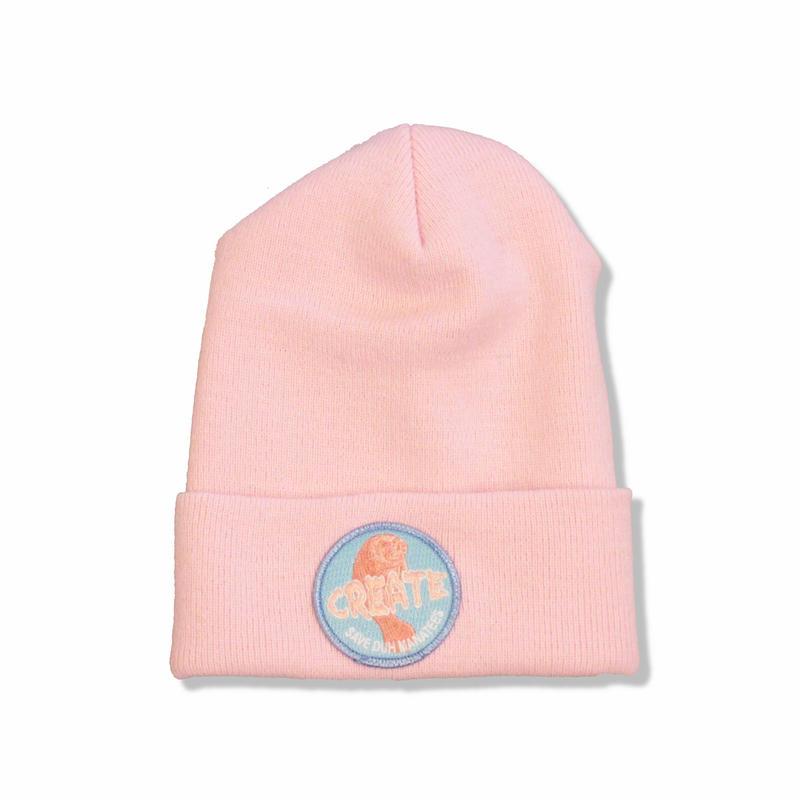 CREATE  SAVE DUH Manatees Beanie (Pink) クリエイト ビーニー ピンク