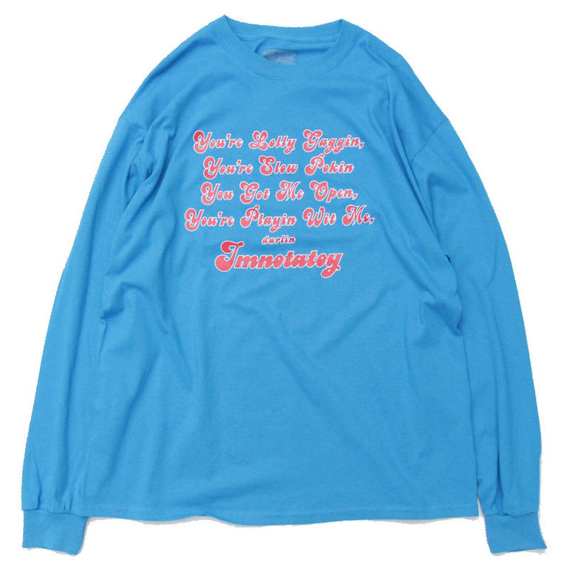 Imnotatoy Long Sleeve Tee <Sky Blue>
