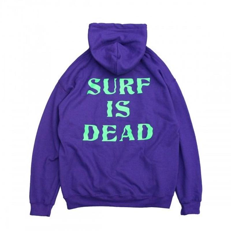SURF IS DEAD WAVY DAYS HOODIE <ROYAL LILAC> サーフイズデッド