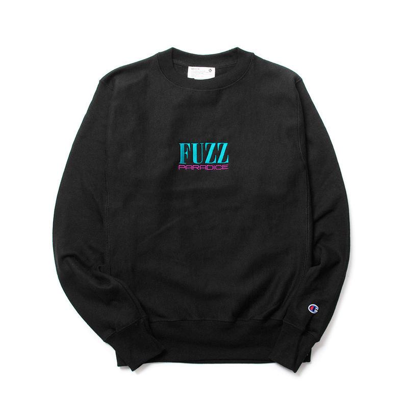 FUZZ CLASSIC LOGO REVERSE WEAVE SWEATSHIRT / BLACK