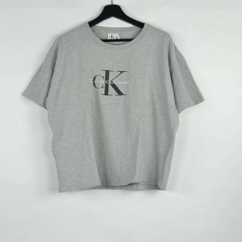 CALVIN KLEIN / S/S T-SHIRTS(USED) COL:GREY NO.64