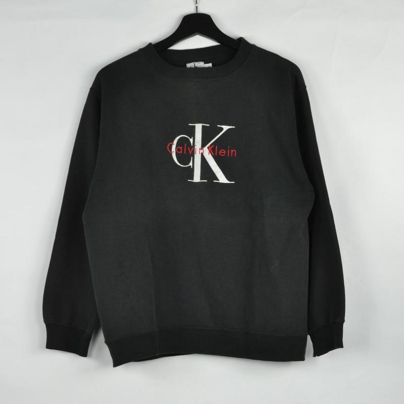 CALVIN KLEIN / CREW NECK SWEAT(USED) COL:BLACK NO.39
