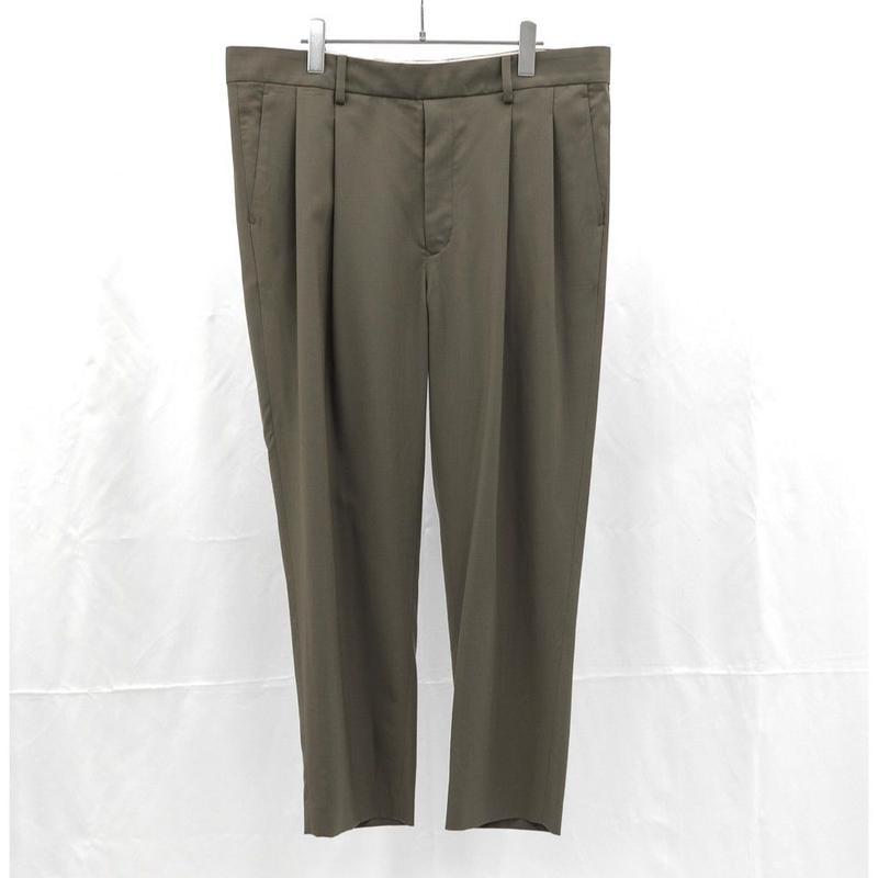 URU TOKYO / WOOL 2TUCK EASY PANTS COL:KHAKI