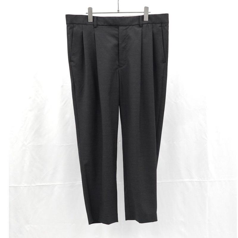 URU TOKYO / WOOL 2TUCK EASY PANTS COL:CHARCOAL