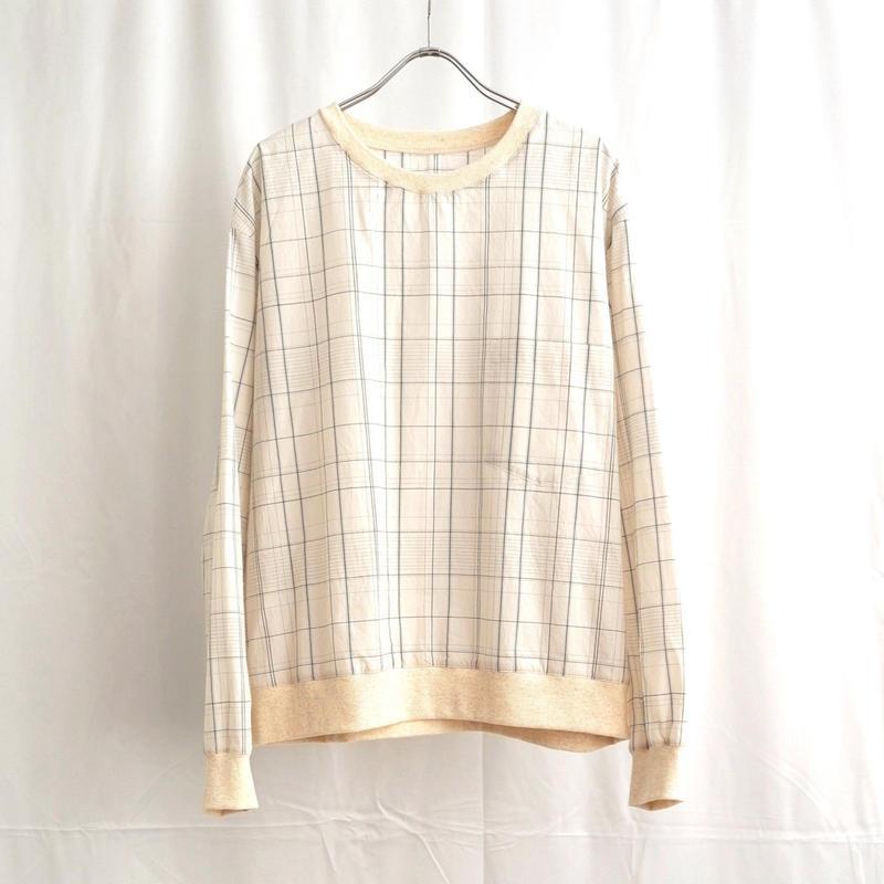 URU TOKYO / PLAID CREW NECK SHIRTS COL:NATURAL