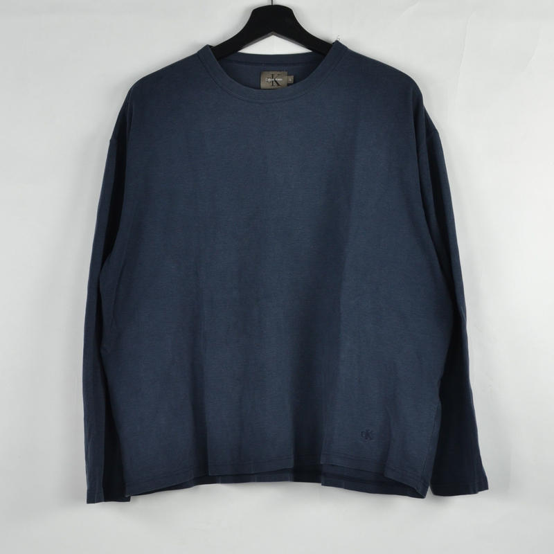 CALVIN KLEIN / L/S T-SHIRTS(USED) COL:BLUE NO.48