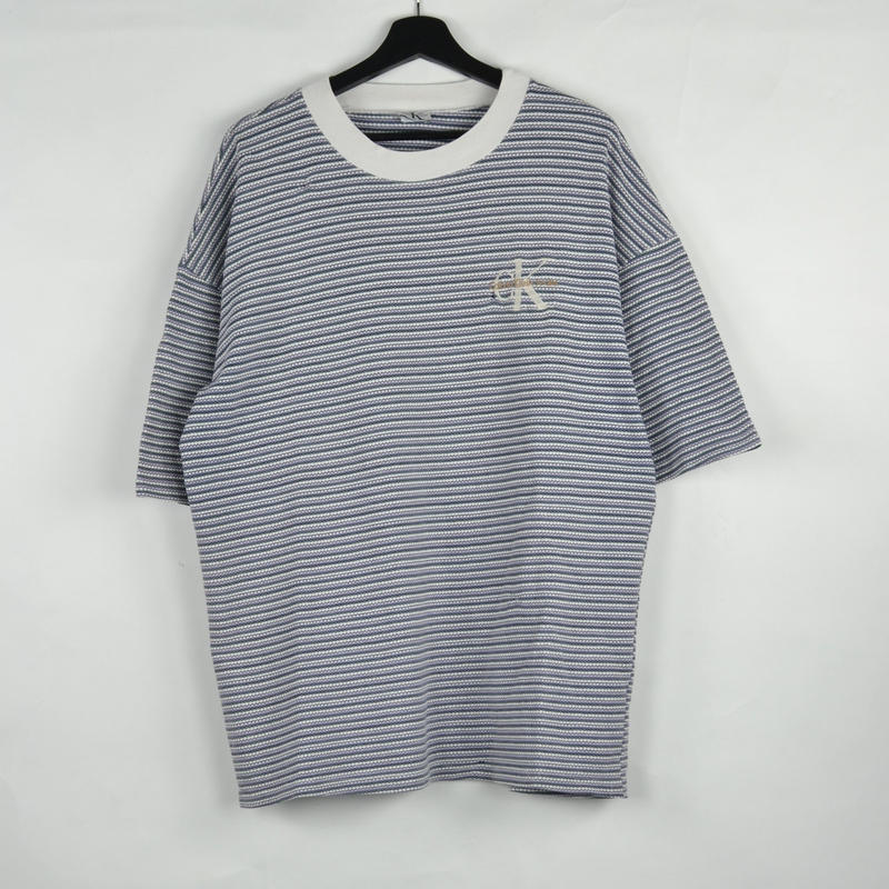 CALVIN KLEIN / BORDER S/S T-SHIRTS(USED) COL:BLUE×WHITE NO.65