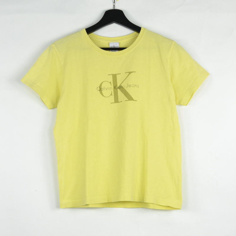 CALVIN KLEIN / S/S T-SHIRTS(USED) COL:YELLOW NO.51