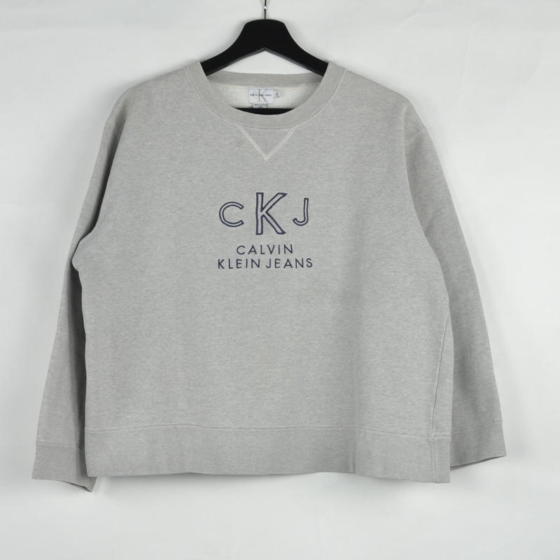 CALVIN KLEIN / CREW NECK SWEAT(USED) COL:GREY NO.44