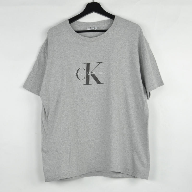 CALVIN KLEIN / S/S T-SHIRTS(USED) COL:GREY NO.60